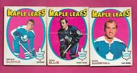 1971-72 OPC TORONTO MAPLE LEAFS  CARD LOT  (INV# H0111)
