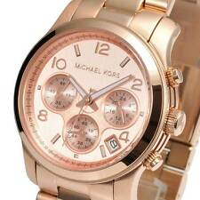 Michael Kors MK5128 Runway Rose Gold-tone Chronograph Stainless Watch MK5128