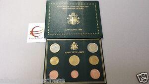 2005 8 monete fdc 3,88 EURO VATICANO BU Vatican KMS Vatikan Giovanni Paolo II
