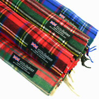 Mens Womens Royal Stewart SCOTLAND 100% CASHMERE Scarf Scarves Check Plaid Wool