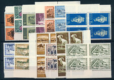 CYPRUS 1962 DEFINITIVES SG211/223 BLOCKS OF 4 MNH