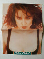 Madonna 1989 Greek Mini Magazine Double Page Poster