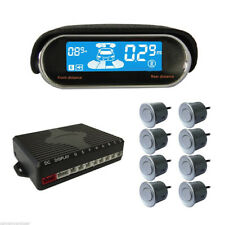8 Parking Sensor Dual-core Double LCD Display Car Reverse Radar Alarm Body Kits