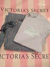 NWT Victoria's Secret Pajama PJ Set Cotton Sleep Pants & Soft Sleep Tee Sz S