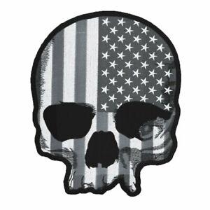 Lethal Threat USA Crâne Américain Drapeau Stars Moto Motard Grand Patch LT30183