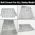 FIT ALL HARLEY DAVIDSON MODEL TOPPERS ABS CHROME BOLT NUT DRESS COVERS CAPS KIT