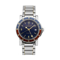 Girard-Perregaux GMT Traveller 7000 Auto 38mm Steel Mens Bracelet Watch 7200