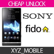 Unlock Code for Rogers, FIDO (Canada) SONY -- Any model