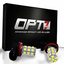 OPT7 Show Glow 9006 LED Fog Light 27-SMD DRL 10000K Deep Blue 5050 Bulb 9012