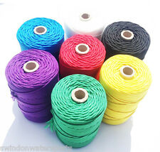 Nylon Braided Cord Twine Rope - 3mm - You choose colour and length