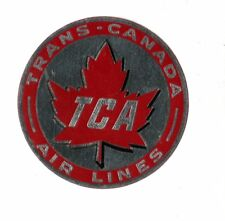 Vintage Airline Luggage Label TRANS CANADA AIR LINES TCA silver matte finish