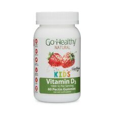Go Healthy Natural Kids Vitamin D3 Gummies - Vegetarian, Halal and OU Kosher