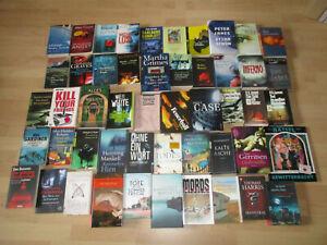 50 Bücher Krimis Thriller Konvolut Sammlung Paket Buch
