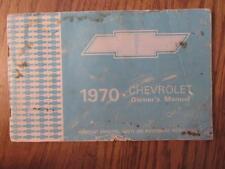 Vintage Automotive 1970 Chevrolet Owner's Manual - VG Cond