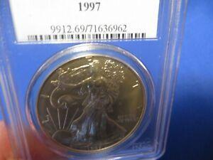 1997 Silver Eagle 1 oz Walking Liberty PCGS MS 69