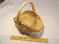 12 inch wicker basket with handle