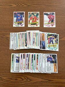 Lot of 1981-82 Topps Hockey cards.