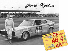 CD_2891 #48 James Hylton 1965 Dodge Charger  1:32 Scale Decals   ~NEW~