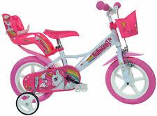 """Dino Bikes Unicorn 12"""" Biciletta per Bambino - Bianco/Rosa (124RL-UN)"""