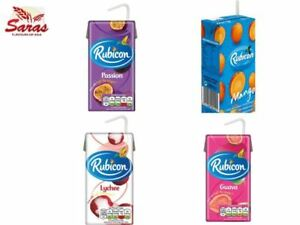 Rubicon Fizzy Drinks 288ML-Mango/Passion/Guava/Lychee(Pack of 27x288ML)