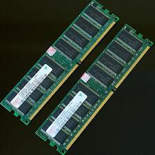Hynix 2GB (2x 1GB ) DDR400 PC3200 400MHZ CL3 Desktop memory RAM 184PIN Chipset