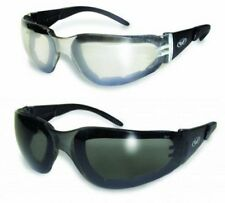 2 Z87 Motorcycle Sunglasses Glasses Smoked Clear Mirror Foam Padded Quad Riding