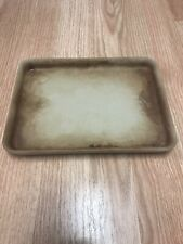 """Pampered Chef Small Bar Pan Toaster Oven Cookie Sheet Stoneware 9"""" x 7"""" #1448"""