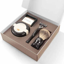 Mondial 1908 Imperiale-I Mens Gift Pack 4 Piece Razor Brush Set  Made in Italy