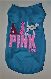 Med BLUE SHIRT w/PINK polka dots like VICTORIA SECRET Dog Clothes PUPPY Apparel