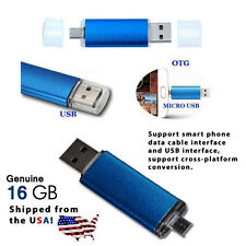 16GB OTG Dual USB Micro USB Flash Pen Drive for PC/Phone - USA Quick Shipping!