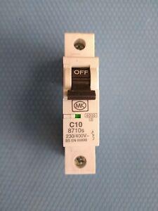 MK SENTRY TYPE C 10amps  MCB. MODEL : 8710S