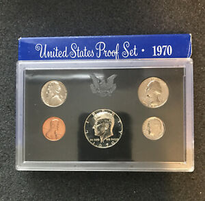 F20 - 1970 Proof Set Silver Kennedy VG condition.