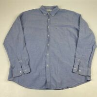 Lacoste Mens Long Sleeve Button Down Shirt Blue Size 44 XL