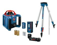 Bosch Grl1000 20hvk Rt Self Leveling Rotary Laser Kit With Tripodrodbig Case