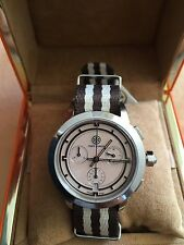 NWT Tory BURCH Stripe/stainless Steel/pink Chronograph WATCH TRB1019 ($495+tax)