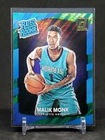 2017-18 Donruss Basketball Malik Monk RC, Rookie Green Flood Holo, Hornets
