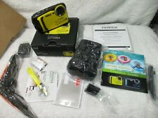 Fujifilm Finepix XP140 16.4MP Water Proof Camera 64GB SD Card Case yellow new
