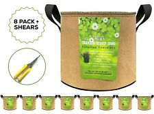 8 Pk-5 gallon Grow Bags Garden planters Aeration Plant Fabric Pots Containers