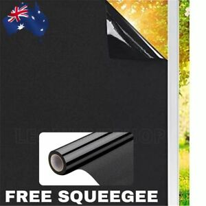 Blackout Static Cling Window Glass Film Sun UV Block Privacy Protection Glueless
