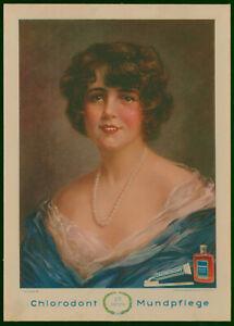 """Werbeschild um 1932  """"25 Jahre Chlorodont Mundpflege"""""""
