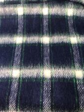 "Flannel Plaid Brushed Soft Fabric Blue White Green 72""x60"" Remnant Americana"