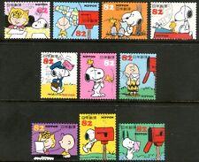 Japan 2014 82y Snoopy set of 10 Fine Used