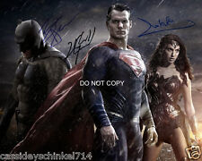 Batman v Superman cast reprint signed 8x10 photo by all 3 Gadot Cavill #1