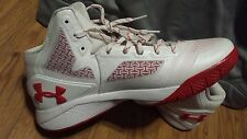 NEW MENS UNDER ARMOUR MARYLAND FLAG WHITE OPS BASKETBALL TEAM ISSUED SHOES 9 !!!