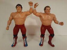 Wwf Ljn British Bulldogs Tag Team Lot Davey Boy Smith & Dynamite Kid 1986 Titan