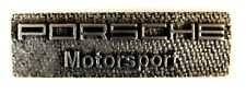 AUTO Pin / Pins - PORSCHE MOTORSPORT matte Chromoptik