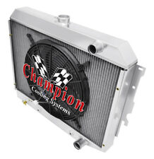 """3 Row Perf Champion Radiator W/ 16"""" Fan for 1968 - 1973 Dodge Charger Hemi Eng"""