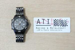 Rare Seiko Toyota Racing Drivers 2003 Stainless Wrist Watch Stopwatch Japan Mvmt