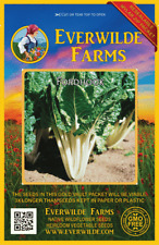 500 Lacinato Kale Seeds Everwilde Farms Mylar Seed Packet
