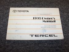 1993 Toyota Tercel Sedan Owner Owner's Operator User Guide Manual DX LE 1.5L